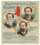 Buckingham Wisker Dye Trade Card