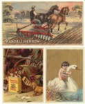 Pearline, Stickney, and Warrior Mower Trade Cards