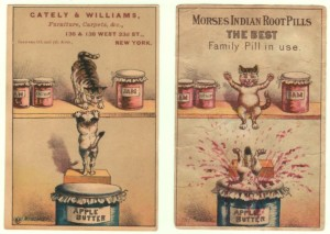 Cat in Jam Jar Victorian Trade Card