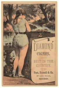 Diamond Cigars Victorian Trade Card
