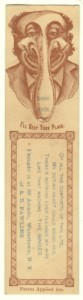 Singer Bookmark Victorian Trade Card