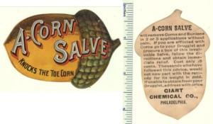 A-Corn Slave Die-cut Trade Card