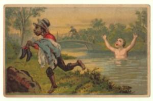 Black Boy Victorian Trade Card