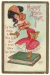Dwig Lady Vintage Postcard