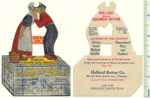 Holland Butter Die-cut Trade Card