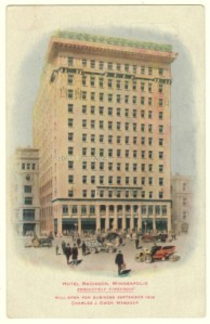 Radisson Hotel Advertising Postcard
