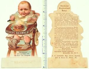 Hecker's BuckWheat Die-cut Trade Card
