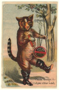Puss 'n Boots Handy Box Blacking Trade Card