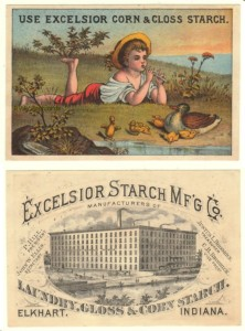 Excelsior Starch Victorian Trade Card