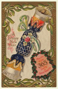New Year Party Popper Postcard