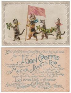 Lion Coffee Victorian Trade Card