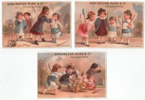 Darlington, Runk & Co. Victorian Trade Cards