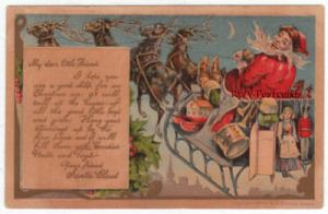 Letter from Santa Claus Postcard