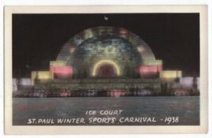 1938 Ice Court Real Photo Postcard