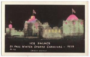 1939 Ice Palace Real Photo Postcard