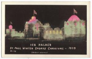 1939 Ice Palace Real Photo Postcard