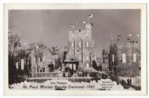1940 Ice Palace Real Photo Postcard