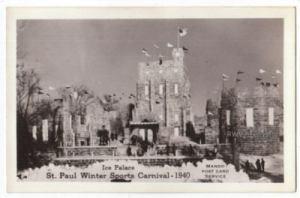 1940 Ice Palace Real Photo Postcard