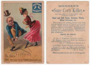 Mennen's Sure Corn Killer Victorian Trade Card