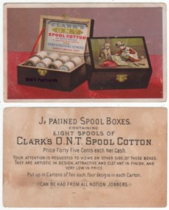 Clark's ONT Cotton Thread Trade Card