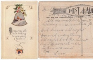 1922 Vintage Christmas Postcard