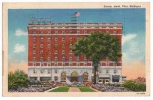 Durant Hotel Linen Postcard