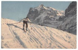 Skiing Postcard for sale in my web store.