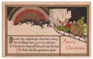 Postcard_Santa_Claus_Dogsleds