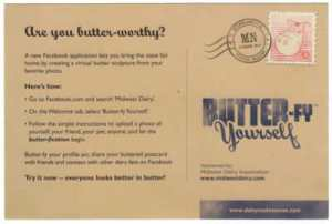 ButterFy Yourself Postcard Back