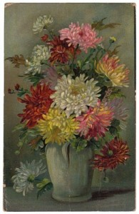 1908 Zinnia Flowers Postcard
