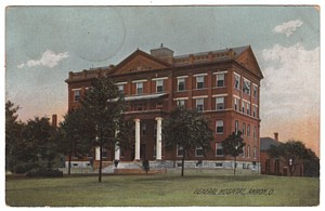 Akron City Hospital Vintage Postcard