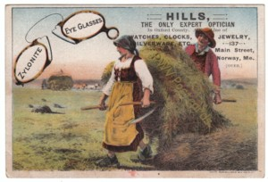 Hills Optician Victorian Trade Card
