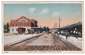 Railroad Depot Postcard, Pocatello, ID