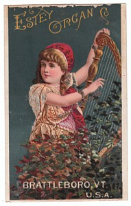 Estey Organ Victorian Trade Card