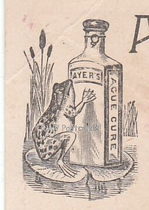 Victorian Trade Card Ayers Ague Cure