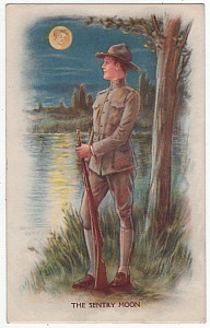 Archie Gunn Postcard The Sentry Moon