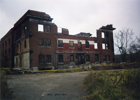 Mudcura Sanitarium in 1997 after arson fire